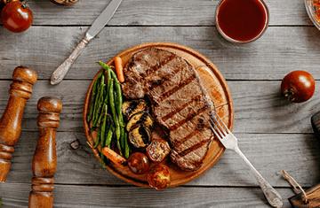 stek z warzywami
