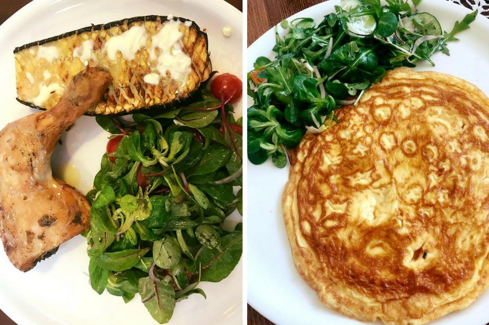 kurczak i omlet