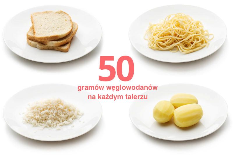 50 gramów węglowodanów